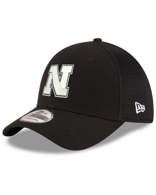 promo code b4989 c7aeb ... cheap ktz nebraska cornhuskers black white neo 39thirty cap for men lyst  f172d 157b1