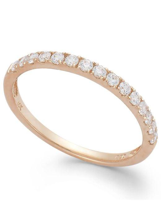 Arabella | Pink 14k White Gold Ring, Swarovski Zirconia Wedding Band (1 Ct. T.w.) | Lyst