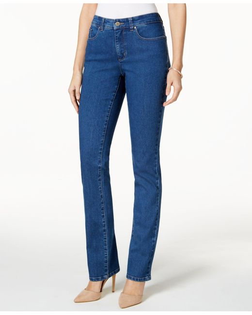 Charter Club - Blue Tummy-slimming Straight-leg Jeans, Nantucket Wash - Lyst