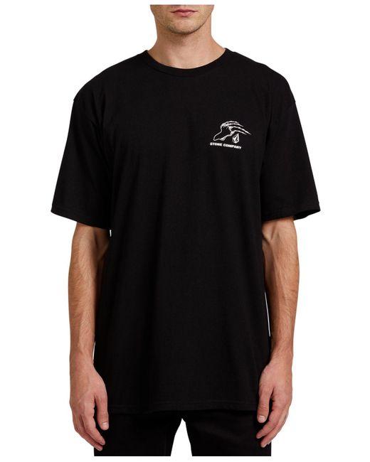 Volcom Black Kitty Kat Short Sleeve T-shirt for men