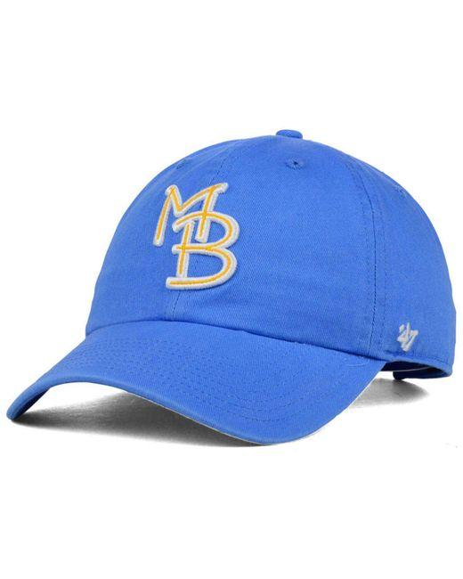 47 Brand - Blue Myrtle Beach Pelicans Clean Up Cap for Men - Lyst