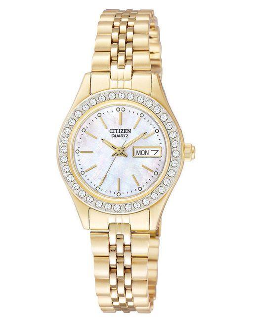 Citizen Metallic Women's Gold-tone Stainless Steel Bracelet Watch 26mm Eq0532-55d