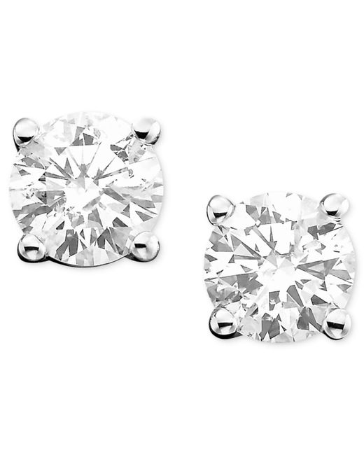 Macy's | Metallic Diamond Stud Earrings (1-1/4 Ct. T.w.) In 14k White Or Yellow Gold | Lyst