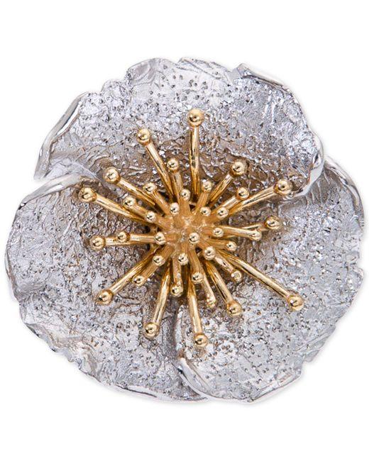 Giani Bernini - Metallic Two-tone Hibiscus Flower Statement Ring - Lyst
