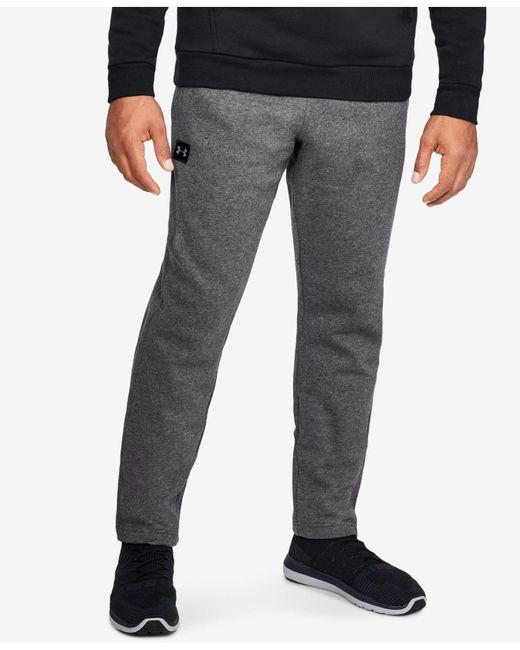 Under Armour - Gray Rival Fleece Pants for Men - Lyst