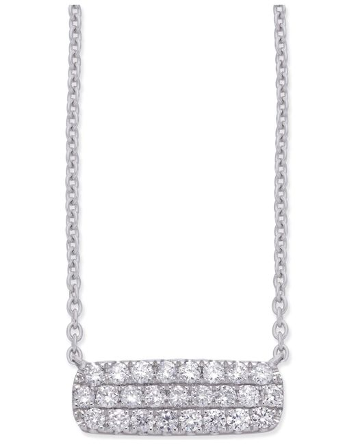 Macy's - Diamond Horizontal Cluster Pendant Necklace (1/3 Ct. T.w.) In 14k White Gold - Lyst