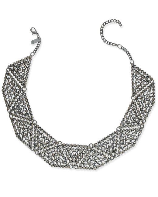 INC International Concepts | Multicolor Hematite-tone Gray Pavé Statement Necklace | Lyst