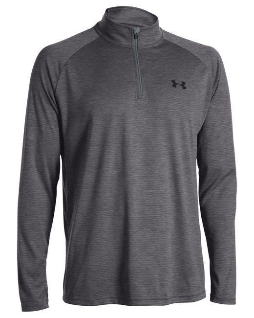 Under Armour - Gray Long Sleeve Quarter-zip Pullover for Men - Lyst