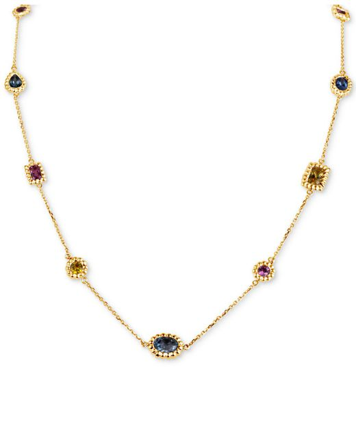 "Macy's Multicolor Multi Sapphire Necklace, 16"""