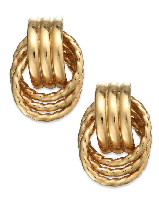 Macy's | Metallic 14k Gold Door Knocker Earrings | Lyst
