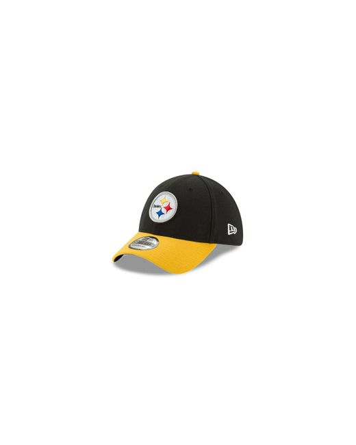 KTZ Black Pittsburgh Steelers New Team Classic 39thirty Cap for men