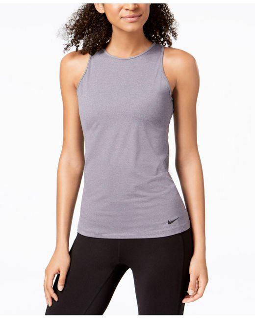 Nike - Purple Dry U-back Training Tank Top - Lyst