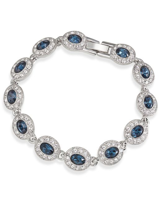 Carolee - Metallic Bracelet, Silver-tone Oval Stone Flex Bracelet - Lyst