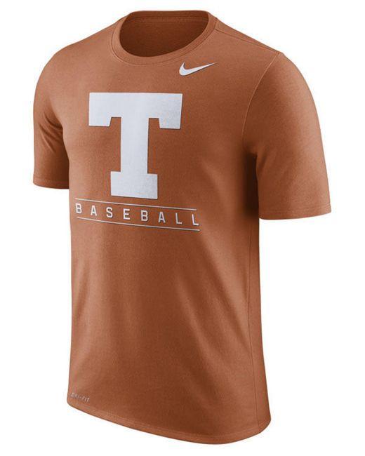 Nike Brown Texas Longhorns Team Issue Baseball T-shirt for men
