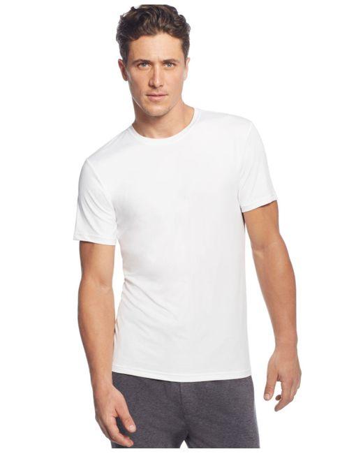 32 Degrees White Crew-neck T-shirt for men