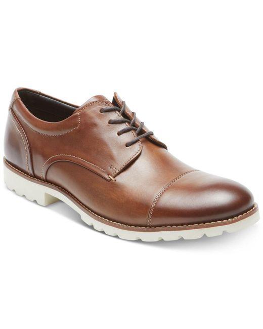 Rockport - Brown Channer Cap-toe Bluchers for Men - Lyst