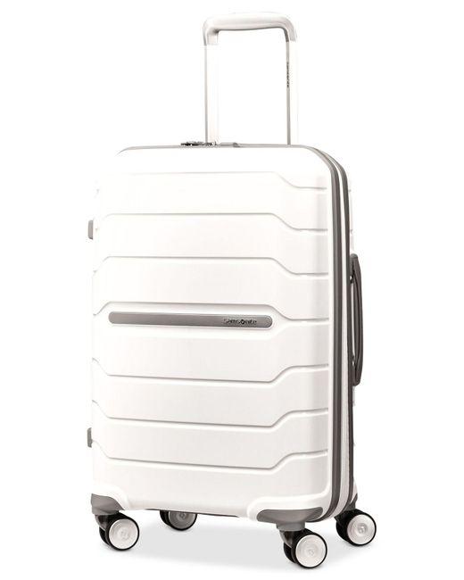 """Samsonite - White Freeform 21"""" Hardside Carry-on Spinner Suitcase for Men - Lyst"""