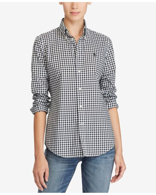 Polo Ralph Lauren - Black Gingham Cotton Poplin Shirt - Lyst