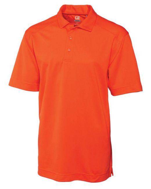 Cutter & Buck Orange Big & Tall Drytec Genre Polo for men