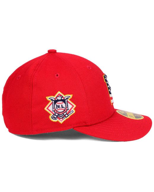 los angeles 0d13e 7d6fc ... uk ktz red pittsburgh pirates stars and stripes low profile 59fifty  fitted cap 2018 for men