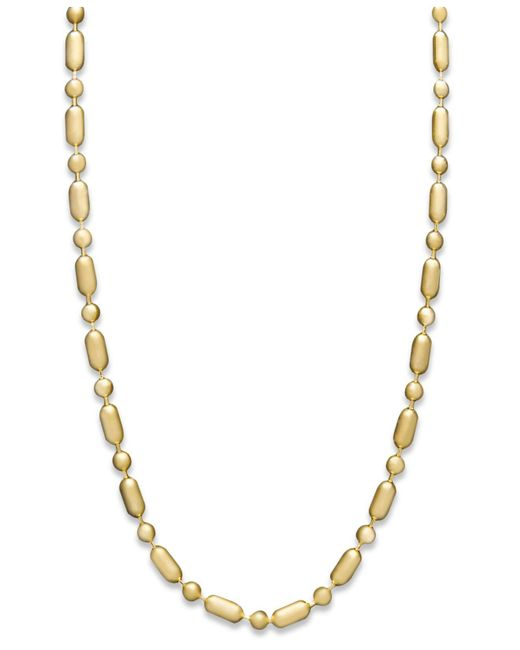 "Macy's Metallic 14k Gold Necklace, 20"" Dot Dash Chain (1mm)"