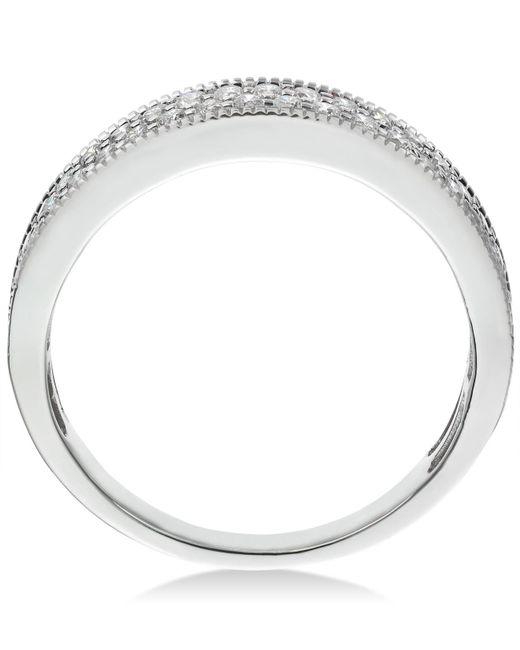 Macy's Multicolor Diamond Pavé Milgrain Band (1/2 Ct. T.w.) In 14k White Gold