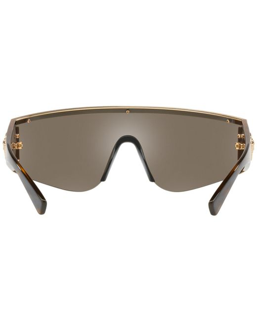 bc8b7961f593 ... Versace - Brown Ve2197 Shield Sunglasses for Men - Lyst ...
