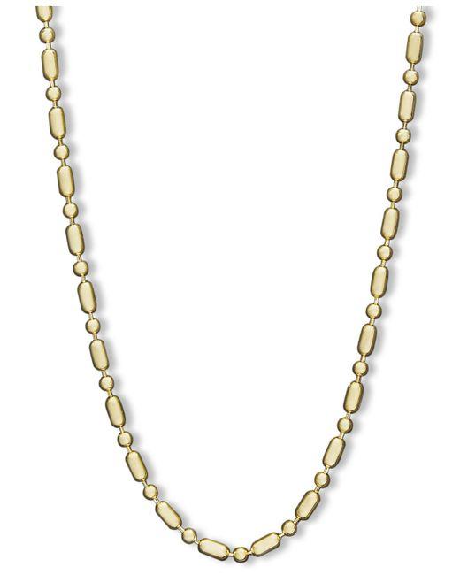 "Macy's - Metallic 14k Gold Necklace, 24"" Dot Dash Chain (1mm) - Lyst"