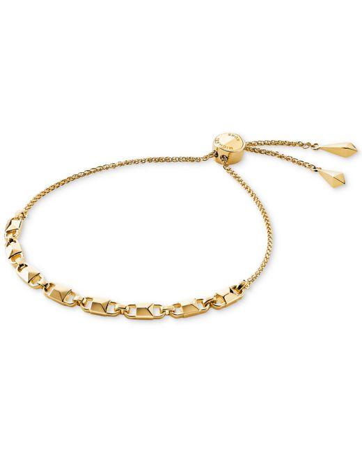 Michael Kors - Metallic Mercer Link Yellow Gold-plated Chain Bracelet - Lyst