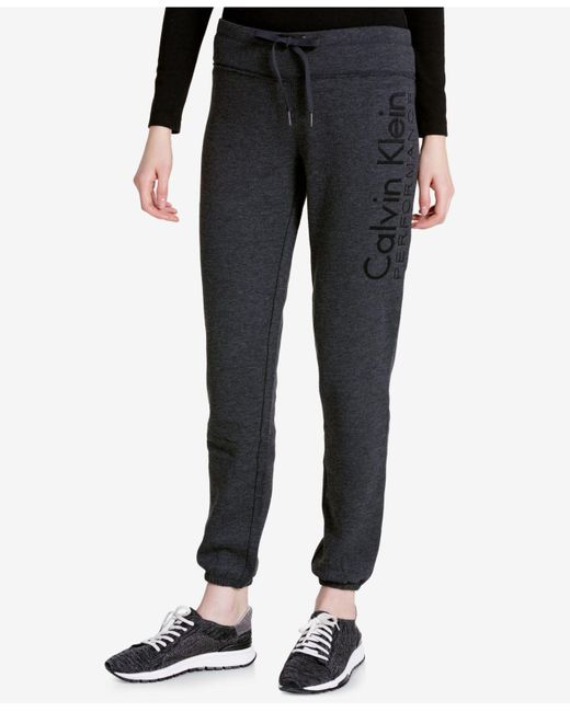 Calvin Klein   Gray Slim Fleece Sweatpants   Lyst