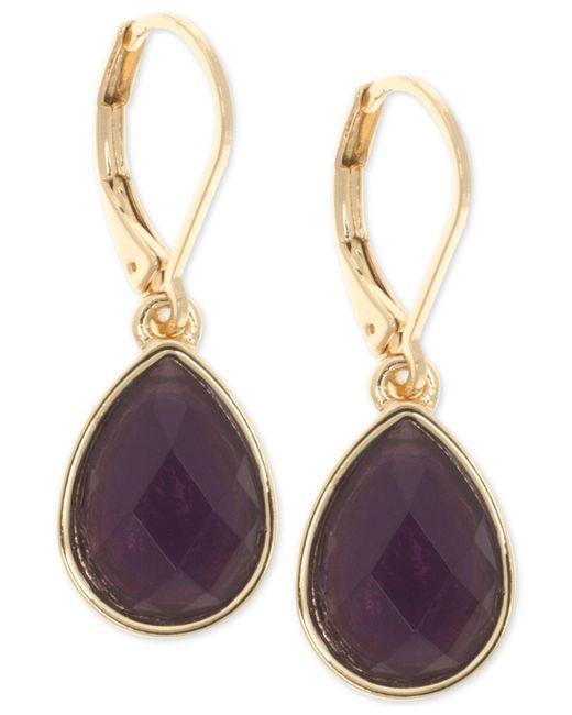 Nine West - Multicolor Stone Drop Earrings - Lyst