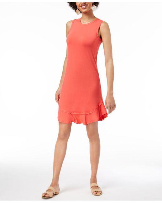 Maison Jules - Multicolor Ruffled-hem A-line Dress, Created For Macy's - Lyst