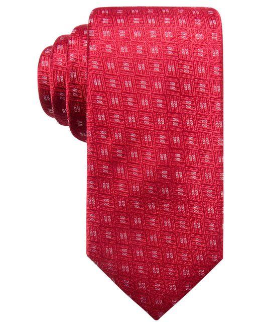 Alfani   Red Men's Neat Silk Slim Tie, Created For Macy's for Men   Lyst