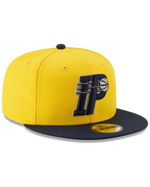 low priced 928ed cf05c ... KTZ - Yellow Indiana Pacers Light City Combo 9fifty Snapback Cap for  Men - Lyst ...
