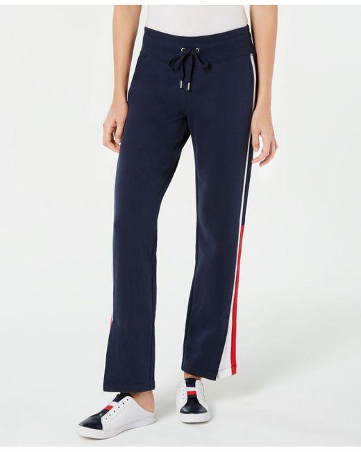 ab0929e115de0 Lyst - Tommy Hilfiger Sport Side-stripe Drawstring Pants in Blue
