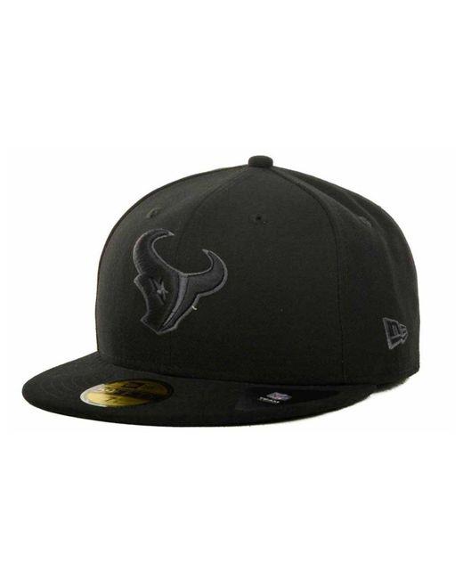 Lyst - KTZ Houston Texans Black Gray 59fifty Hat in Black for Men c9c55c8d1