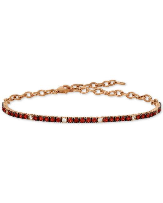 Le Vian - Red ® Ruby (1-1/3 Ct. T.w.) & White Sapphire (1/5 Ct. T.w.) Statement Bracelet In 14k Rose Gold - Lyst