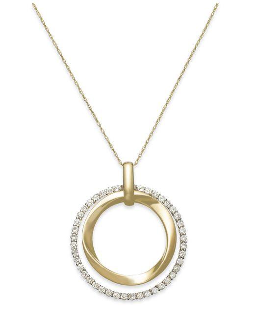 Le Vian - Metallic Diamond Circle Pendant Necklace In 14k Gold (7/8 Ct. T.w.) - Lyst