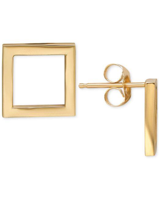 Macy's | Metallic Square Stud Earrings In 14k Gold | Lyst
