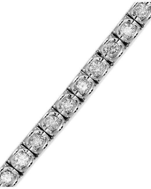 Macy's   White Diamond Bracelet In 14k Gold (2 Ct. T.w.)   Lyst