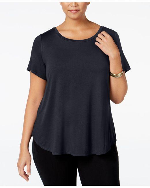 Alfani - Black Plus Size High-low Tee - Lyst