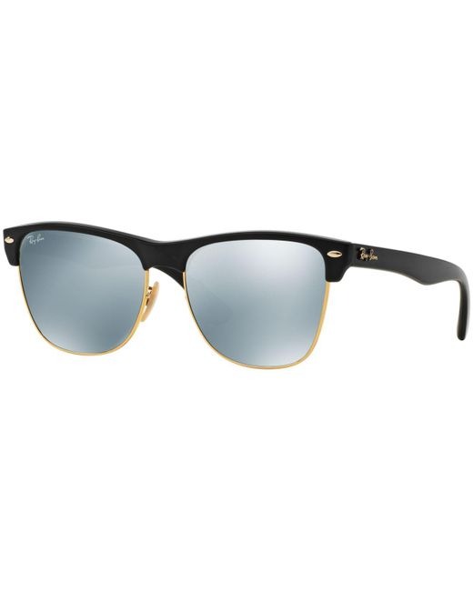 582db0f100fe9 ... sweden ray ban black sunglasses rb4175 57 clubmaster oversized for men  lyst 9eb42 48c37