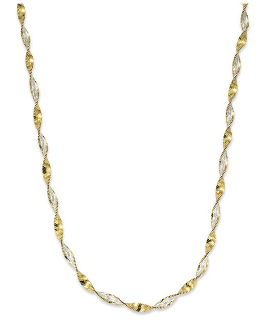 """Giani Bernini - Metallic 18"""" Twist Link Chain Necklace In 18k Gold Over Sterling Silver, Created For Macy's - Lyst"""