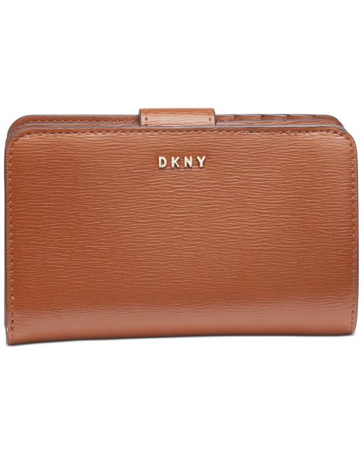 DKNY Brown Bryant Leather Carryall Wallet, Created For Macy's