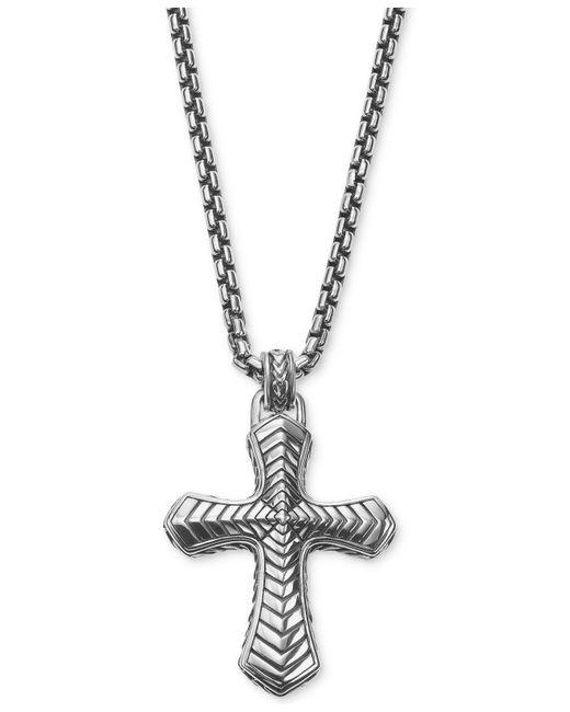 Scott Kay - Metallic Men's Textured Pendant Necklace In Sterling Silver for Men - Lyst