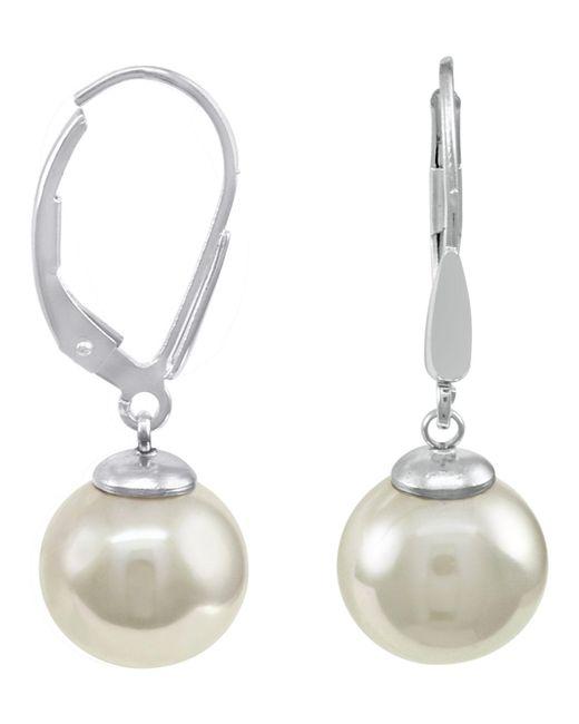 Majorica - Metallic Sterling Silver Earrings, Imitation Pearl - Lyst
