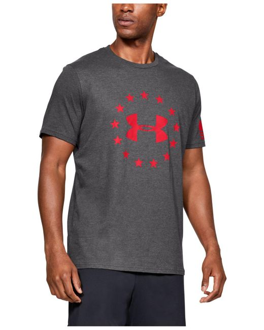 Under Armour Gray Freedom Logo for men