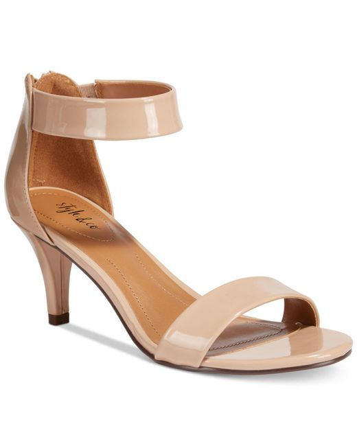 Style & Co. - Natural Paycee Two-piece Dress Sandals - Lyst