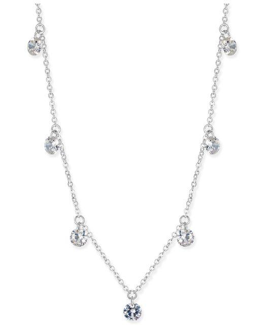 INC International Concepts - Metallic Silver-tone Crystal Drop Necklace - Lyst