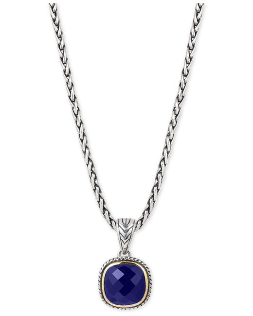 Effy Collection - Metallic Lapis Lazuli Pendant Necklace (5-1/5 Ct. T.w.) In Sterling Silver And 18k Gold - Lyst